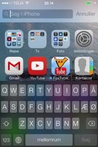 Søg via spotlight i iOS 7
